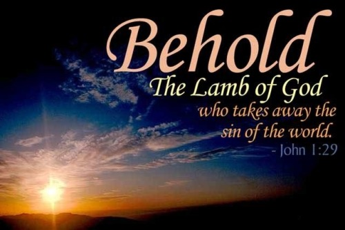 Behold the Lamb of God Picture