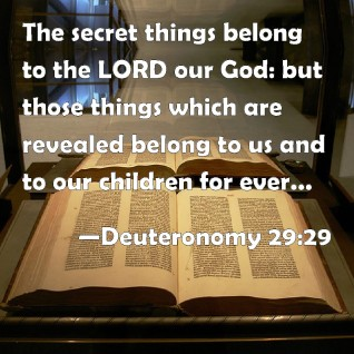 The Secret things of the Lord-Deuteronomy 29